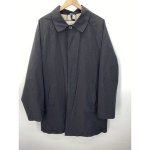 Burberry Long Sleeve Solid Trench Coat Black Sz L